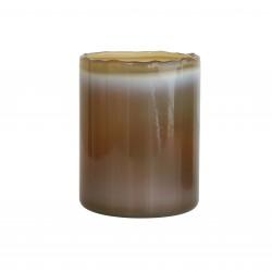 Szklany świecznik, khaki