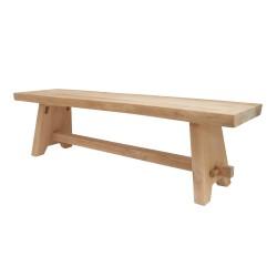 Ławka drewniana naturalna 160x40x45cm