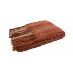 Pled Hug 130x170, rdzawy