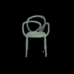 Krzesło Loop z poduszką zielone - 2 szt.