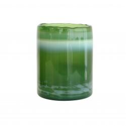 Szklany świecznik, zielony