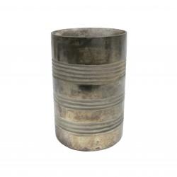 Ręcznie wykonany szklany świecznik z matową powłoką