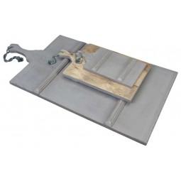 Prostokątna deska drewniana szara, S
