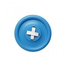 Guzik wieszak niebieski M, białe wiązania