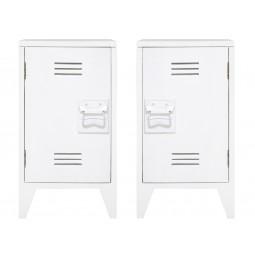 Zestaw szafek nocnych białych