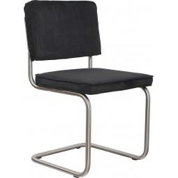 Krzesło RIDGE BRUSHED RIB czarne 7A