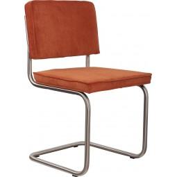 Krzesło RIDGE BRUSHED RIB pomarańczowe 19A