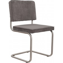 Krzesło RIDGE BRUSHED RIB szare 6A
