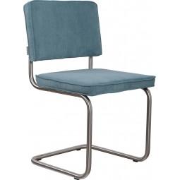 Krzesło RIDGE BRUSHED RIB niebieskie 12A