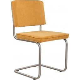 Krzesło RIDGE BRUSHED RIB żółte 24A