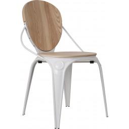 Krzesło LOUIX naturalna biel