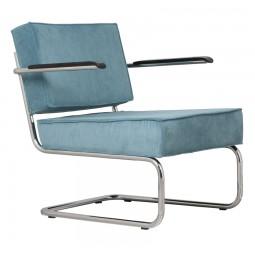 Krzesło Lounge RIDGE RIB ARM niebieskie