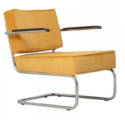 Krzesło Lounge RIDGE RIB ARM żółte