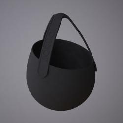 Sling - silikonowa doniczka, kolor czarny/czarny