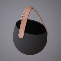 Sling - silikonowa doniczka, kolor czarny/pomarańczowy