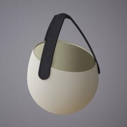 Sling - silikonowa doniczka, kolor piaskowy/czarny