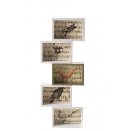 Ramka na zdjęcia BIRDS biały/złoty